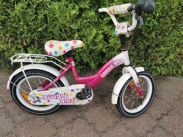 Rower 14' cali różowo bialy