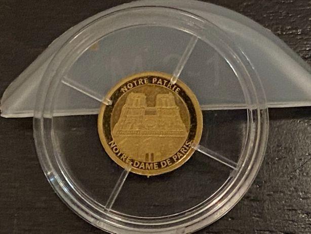 Złota Moneta, żeton kolekcjonerski - Notre Partie Notre Dame de Paris