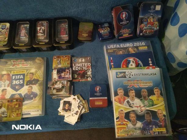 Panini Kolekcja kart i albumów piłkarskich, kilka setek kart