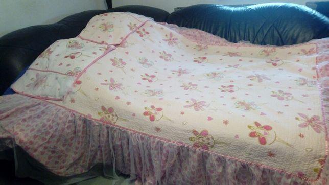 Piękna narzuta dziewczęca na łóżko baletnica + 2 poduszki