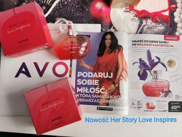 Nowe HERSTORY LOVE INSPIRES Her Story 50ml damski perfum zapach Kayah