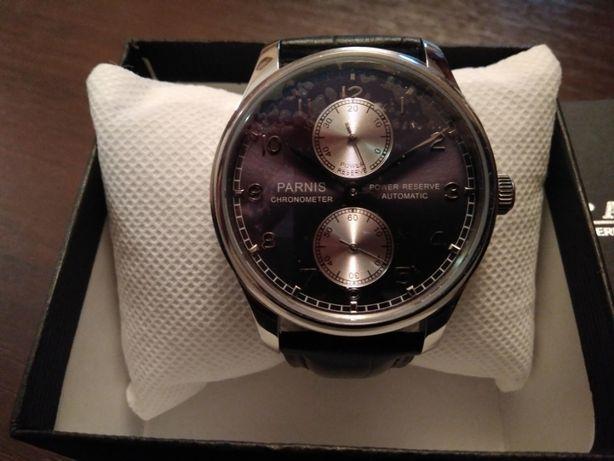 Мужские часы Parnis, механизм ST2542 SEA-GULL.