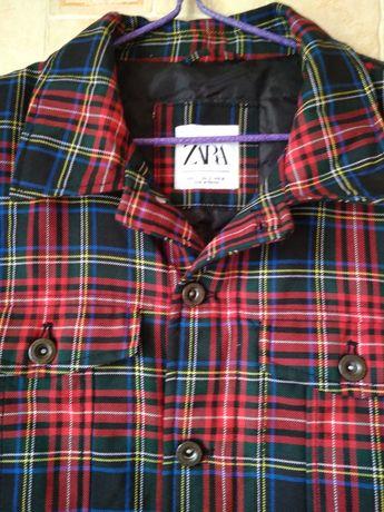 Куртка  в клетку от Zara.Турция