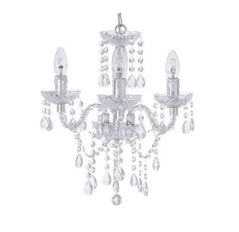 Lampa wisząca kryształ akryl
