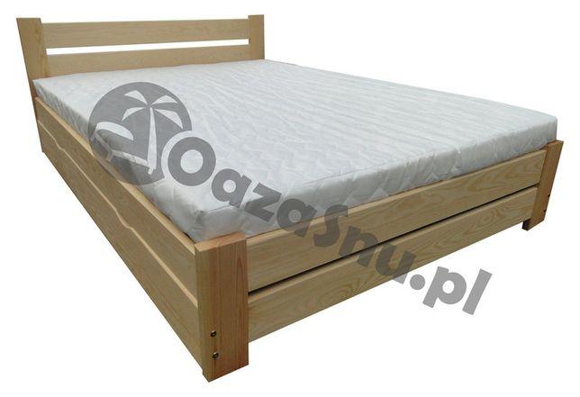 łóżko sosnowe ze skrzynią otwierane z boku FLORENCJA 140x220