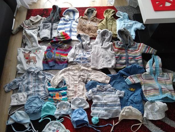 Bluzy, sweterki, koszule, czapeczki 56-68