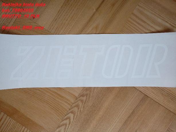 Naklejka biała duża z napisem ZETOR