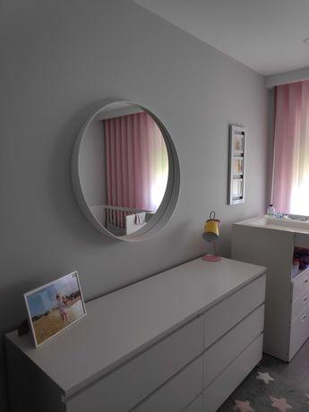 Espelho redondo branco ROTSUND