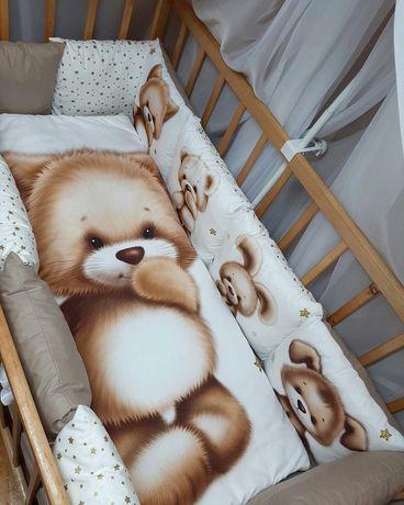 Постельный комплект в кроватку бортики защита постіль в ліжечко