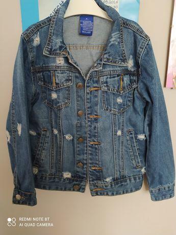 Katana / kurtka jeans jak nowa 128 z dziurami