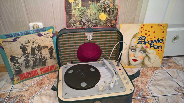Gramofon Fonica WG-262 oryginał igła + płyty winylowe