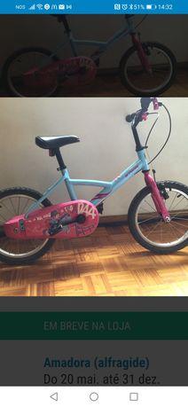 Bicicleta btwin de menina