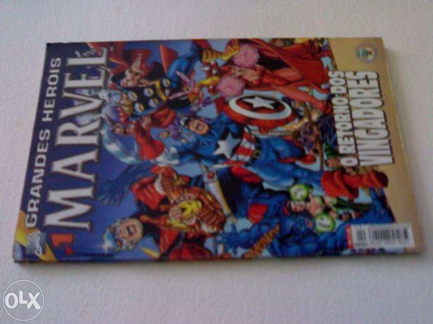 Grandes herois marvel 1  nova edição inédito vingadores