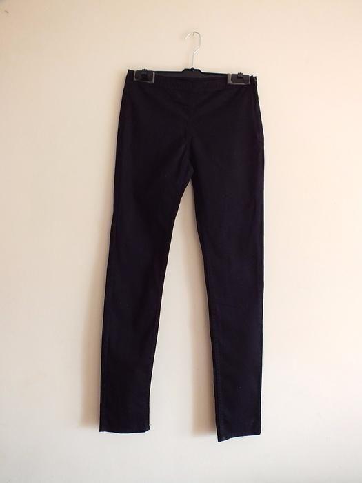 czarne spodnie rurki dopasowane suwak z boku eleganckie H&M garniturow Mińsk Mazowiecki - image 1