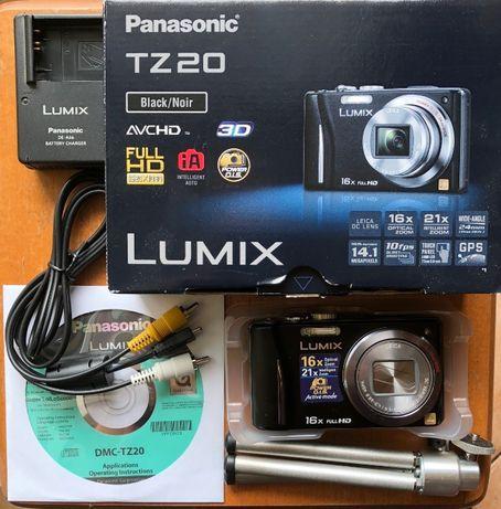 Panasonic LUMIX TZ20 Sprawny + Karta SD + Statyw