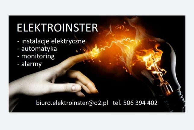 Elektryk Monitoring Alarmy