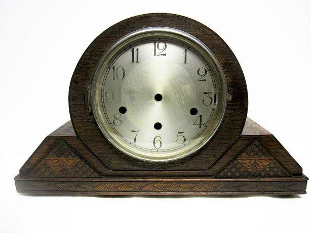 antiga caixa de relógio em madeira Arte Deco