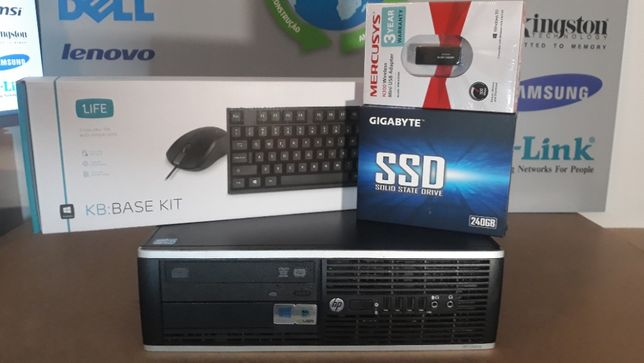 PC P/ESCRITÓRIO-HP 3ªGr. i5-3.2Ghz,8Gb, Ssd240 + Hdd320,WIFI,Kit,W10