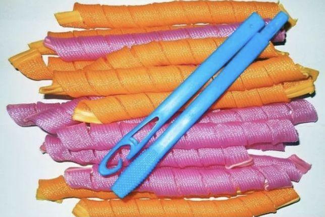 Бигуди длинные 56 см, 18 штук для длинных волос Magic Leverag