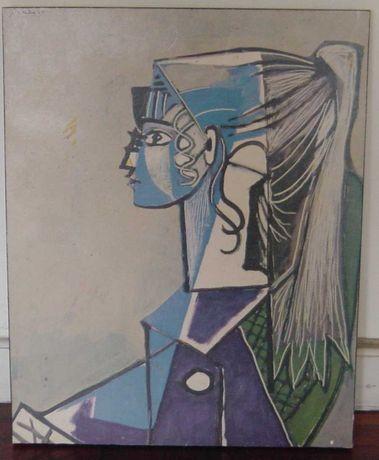 """Quadro réplica de Picasso (anos 70) - """"Sylvette XIII"""" (c. 1954)"""
