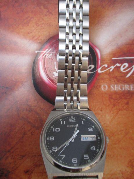 Vintage Seiko V 7 4 3-9 0 2 0. Relógio em aço inoxidável/Stainless St