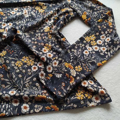 Bluzka hiszpanka w kwiaty 38 M H&M