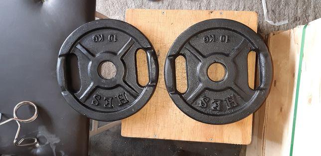 Obciążenia olimpijskie 2x10kg fi 51mm Hes