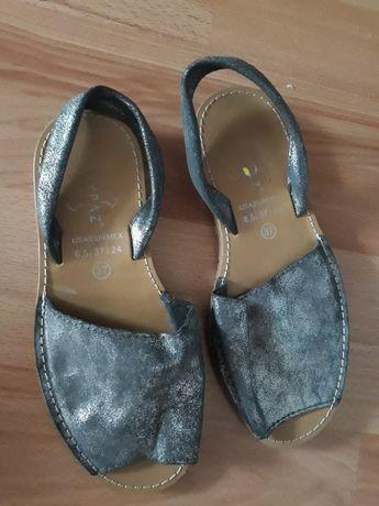 Sandały Marypaz kolor srebrny rozm.37(24 cm.).