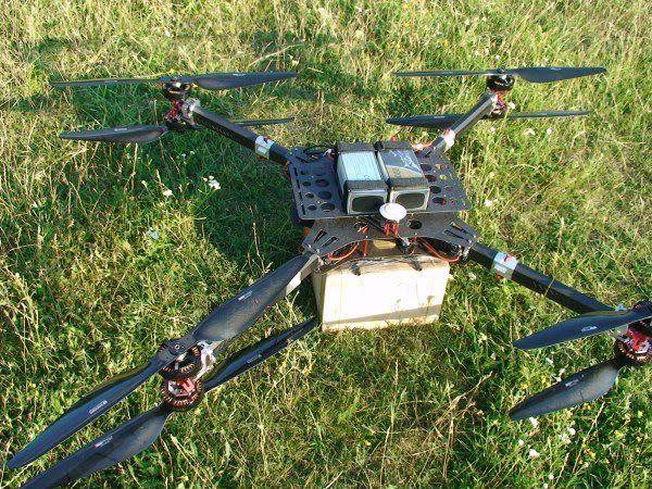 Грузовий дрон коптер квадрокоптер бпла для доставки груза