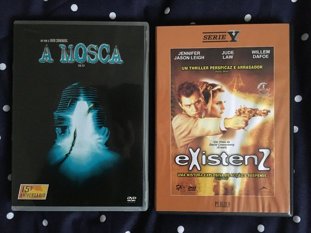 David Cronenberg 2x DVDs A Mosca Existenz