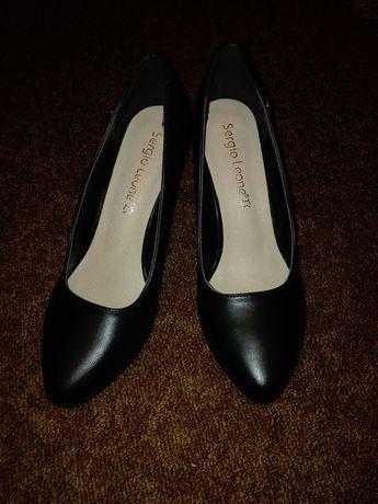 Nowe czółenka 38 sergio leone półbuty buty pantofle