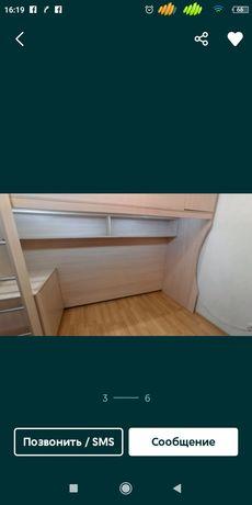 Кровать чердак, с нишей под диван