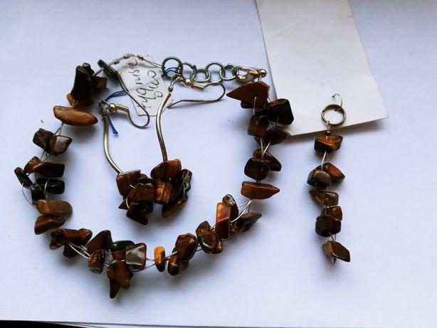 zestaw biżuterii - kamienie półszlachetne
