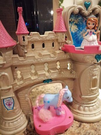 Zamek grający swiecący plus kucyki