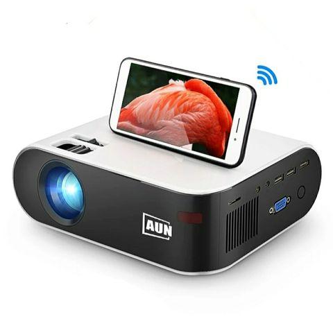 Projector wireless (espelhe a imagem do telemóvel na tela de projeção)