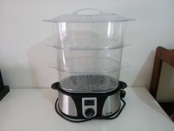 Máquina de cozer a vapor - 3 andares, 12 litros