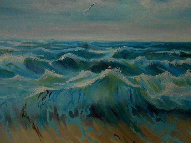 Картина маслом на холсте, морской пейзаж