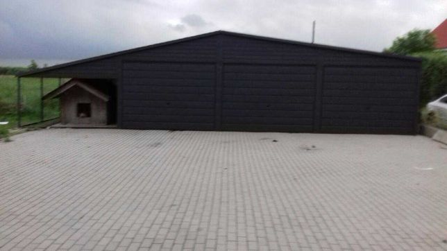 Garaze blaszak 6x6 plus 3m wiata