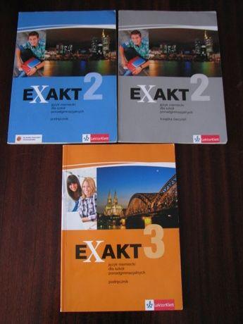 Exakt 2, 3 podręcznik i ćwiczenia do j.niemieckiego dla liceum