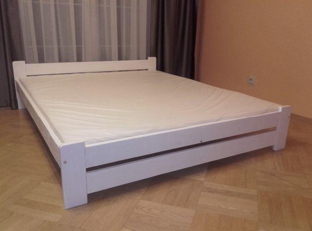 Łóżko z materacem białe czarne siwe sosna 90,120,140,160x200 materac