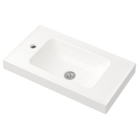 HAGAVIKEN Pojedyncza umywalka, biały, 63x34cm 803.245.00