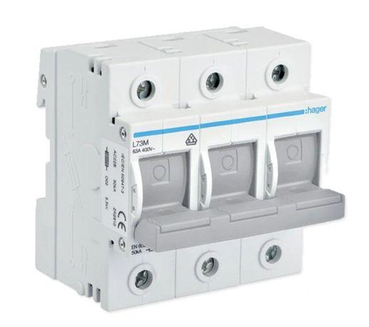 HAGER Rozłącznik bezpiecznikowy D02 3P 63A L73M