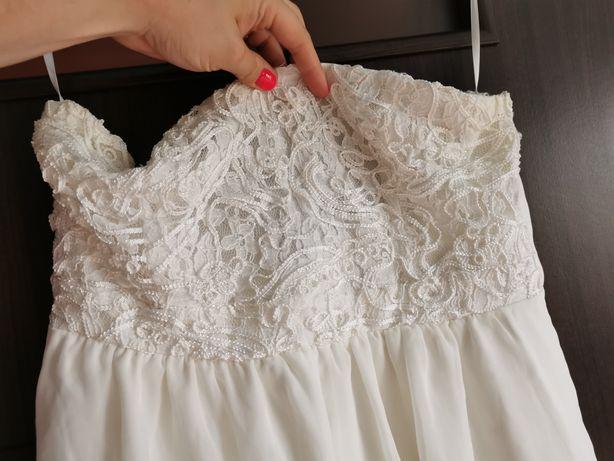 Biała sukienka XL