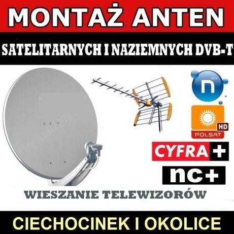 Ustawianie montaż anten satelitarnych i naziemnych Ciechocinek