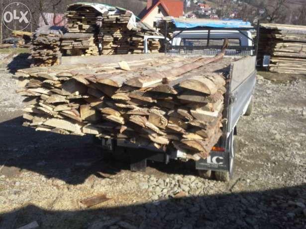 Drewno opałowe okrajki sezonowane suche