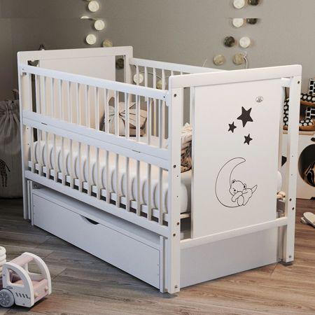 Новая Детская Кроватка Мишка на месяце. Маятник.Дерево - Бук