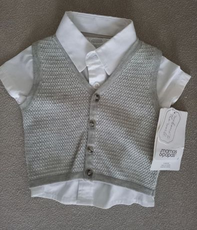 Koszula z kamizelka rozmiar 56