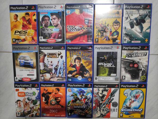 25 Jogos PS2 (1 a 6€, 3 a 16€ e 5 a 24€) e 2 Câmeras Eye Toy