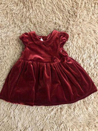 Плаття для дівчинки h&m 6-9 міс 74 см платье