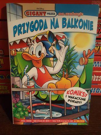Kaczor Donald . Przygoda na balkonie. Komiks